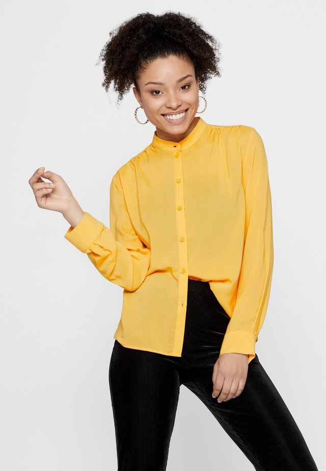 Button-down blouse - artisans gold