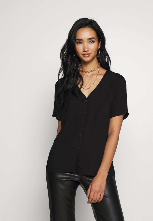 PCCECILIE - Button-down blouse - black