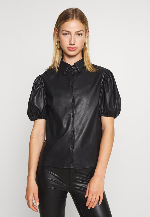 PCKIARA - Button-down blouse - black