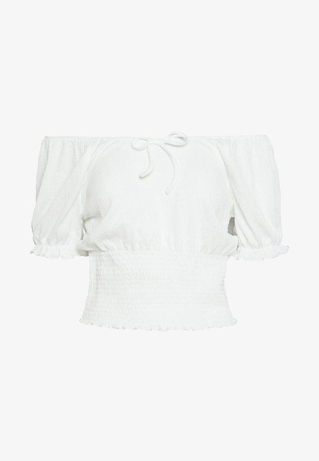 PCANNIE - Print T-shirt - cloud dancer