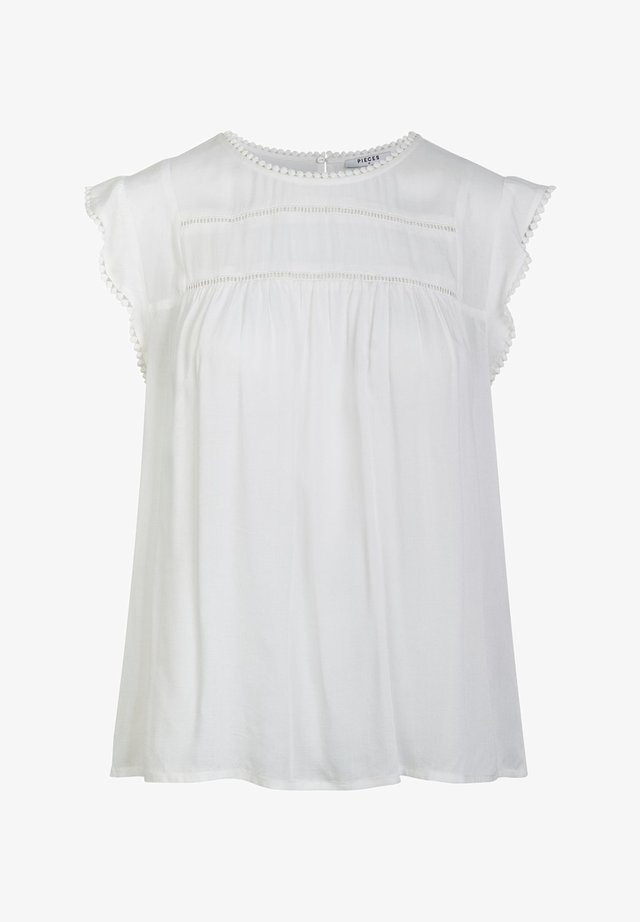 OBERTEIL WEICHES VISKOSE - Blouse - bright white