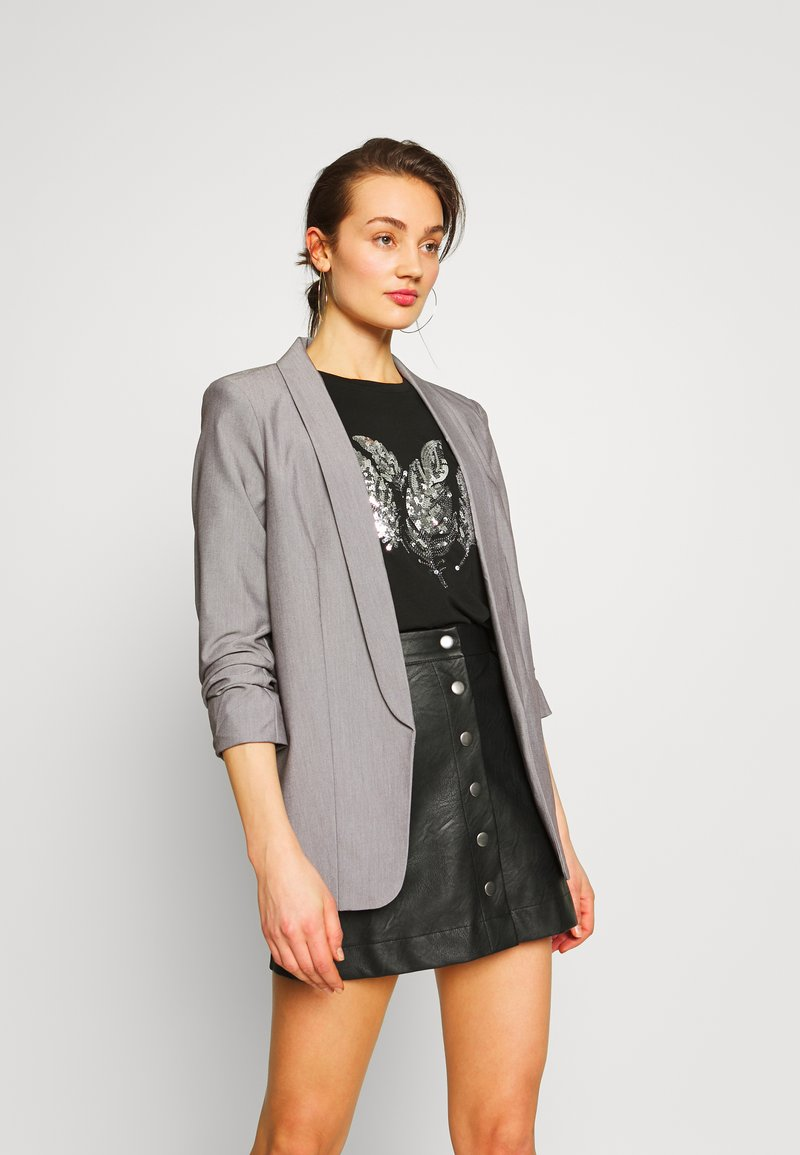 Pieces - PCBOSS  - Blazer - light grey melange