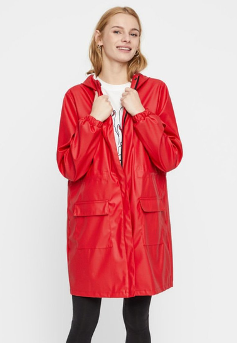 Pieces - Parka - light red