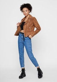 Pieces - Leather jacket - toasted coconut - 1