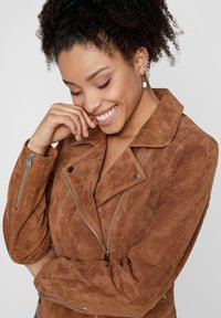 Pieces - Leather jacket - toasted coconut - 3