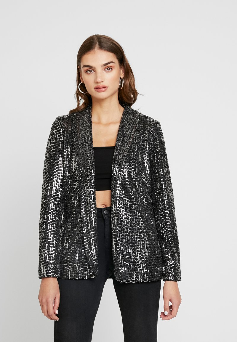 Pieces - Blazer - black/silver