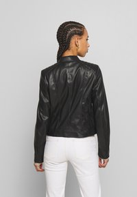 Pieces - PCNALLY BIKER JACKET - Jacka i konstläder - black - 2
