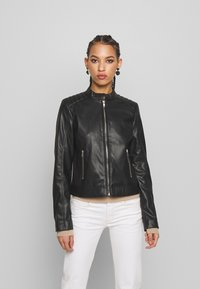 Pieces - PCNALLY BIKER JACKET - Jacka i konstläder - black - 0