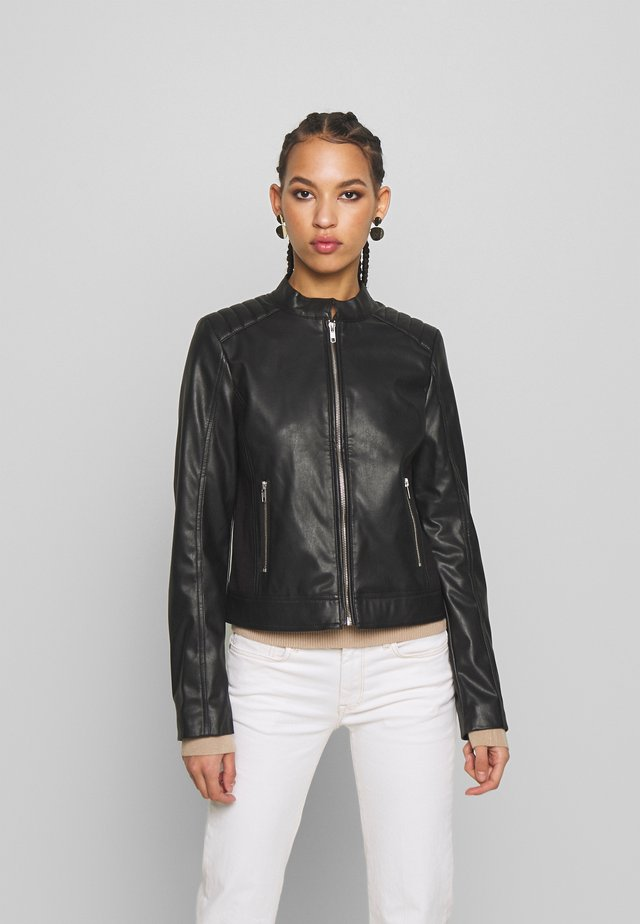 PCNALLY BIKER JACKET - Giacca in similpelle - black