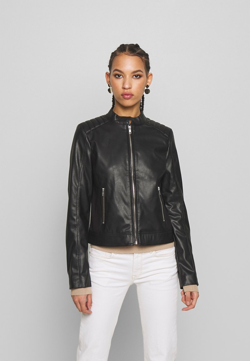 Pieces - PCNALLY BIKER JACKET - Jacka i konstläder - black