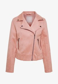 Pieces - PCCRIA BIKER JACKET - Jacka i konstläder - misty rose - 4