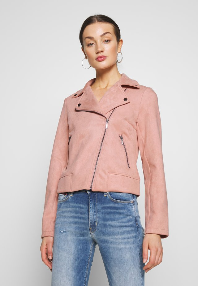 PCCRIA BIKER JACKET - Veste en similicuir - misty rose