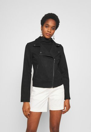 PCCRIA BIKER JACKET - Giacca in similpelle - black