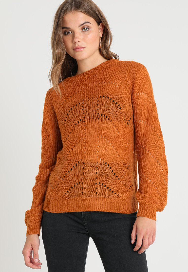 Pieces - PCJILLY - Strickpullover - leather brown