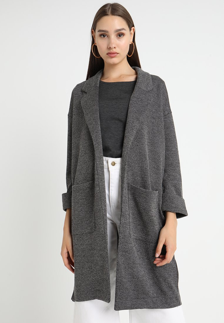 Pieces - PCDORITA COATIGAN - Short coat - dark grey melange