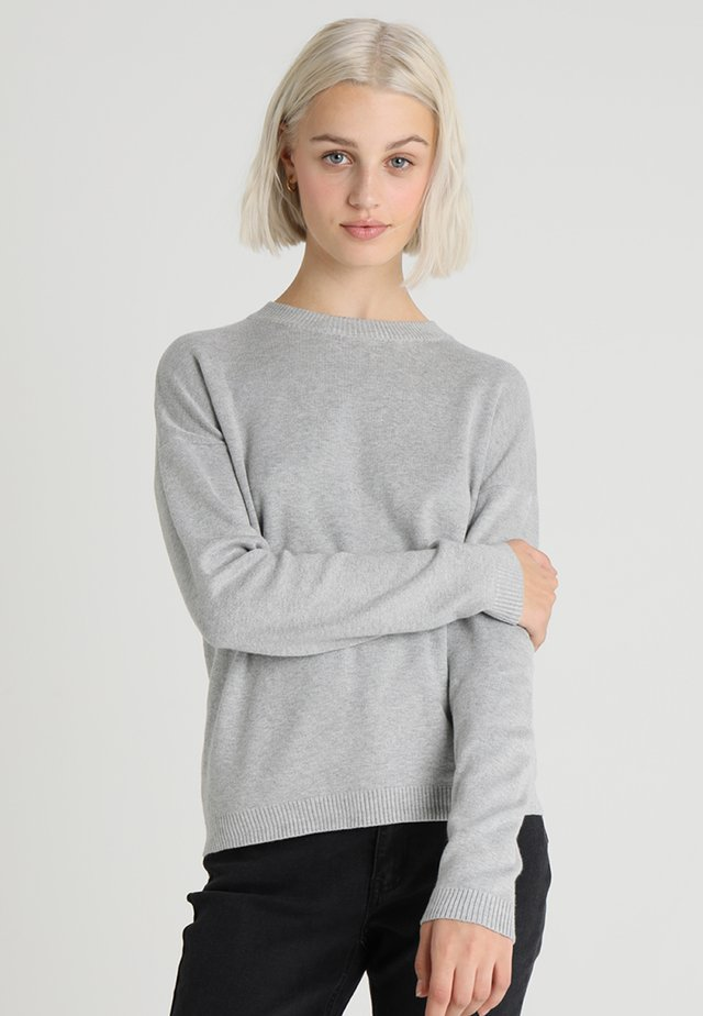 PCLISA - Neule - light grey melange