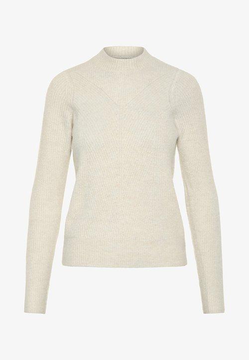 ekonomiczny Pieces Sweter - almond milk Odzież Damska NVBC-MI8