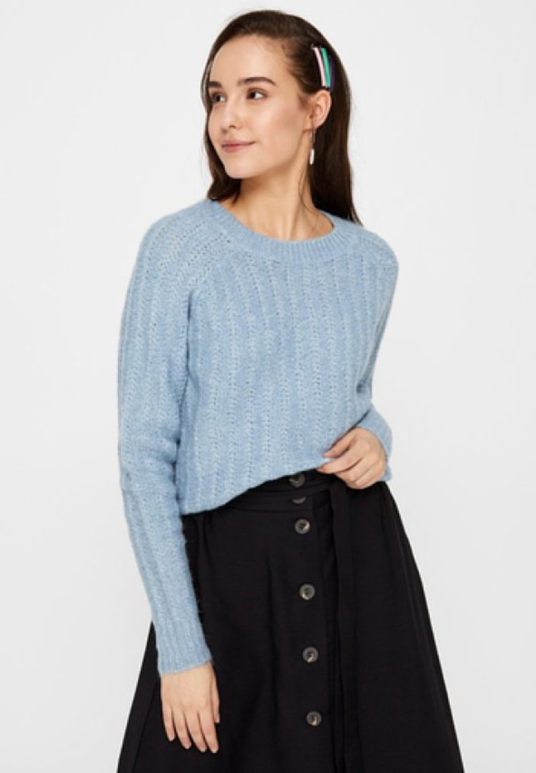 Pieces - Strickpullover - ashley blue