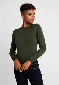 Pieces - PCHESERA KNIT - Jumper - forest night - 0