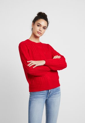 Strickpullover - racing red