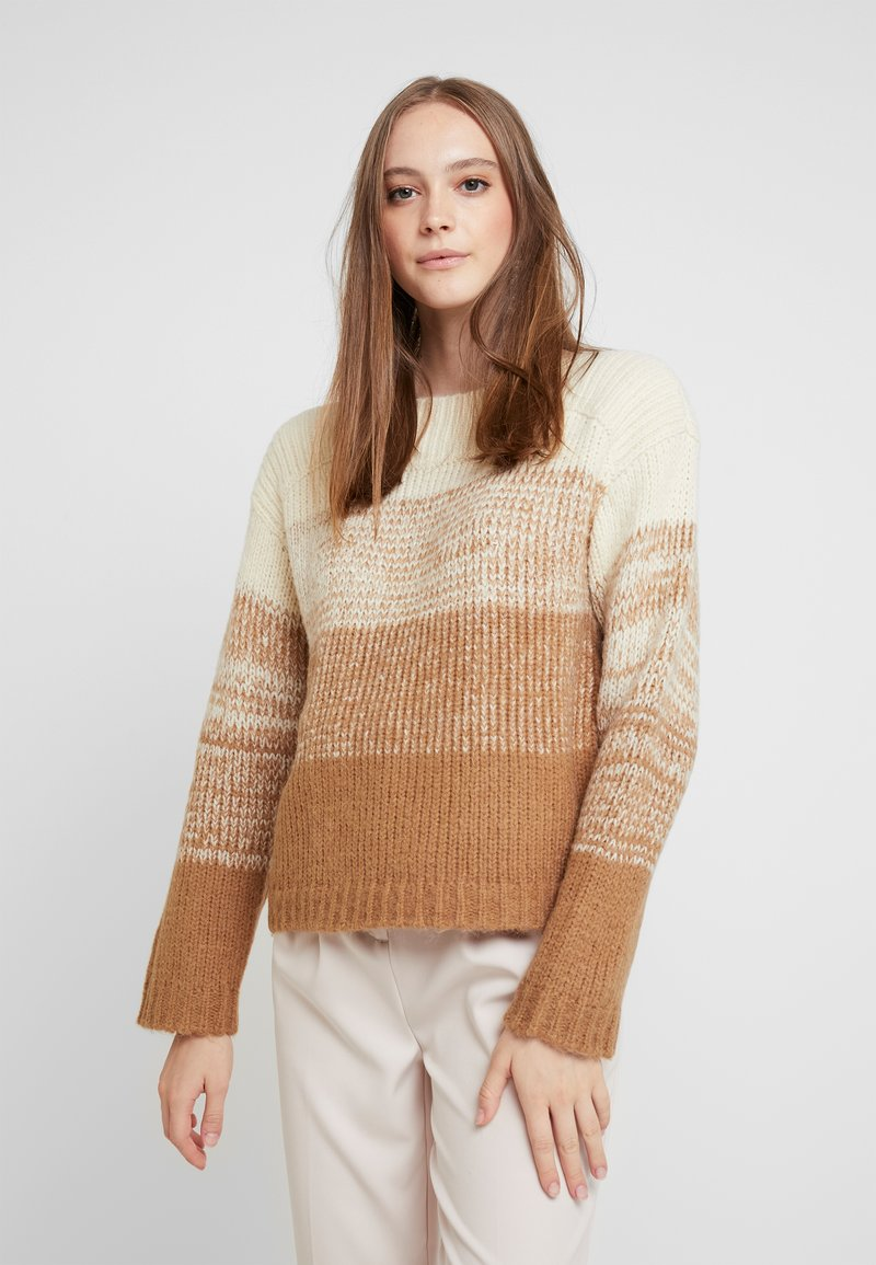 Pieces - Pullover - white pepper/gradient with toasted