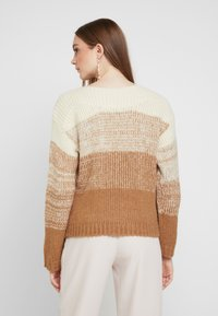 Pieces - Pullover - white pepper/gradient with toasted - 2