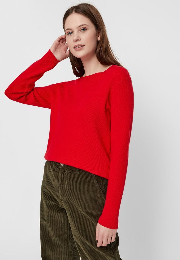 Pieces - Strickpullover - racing red