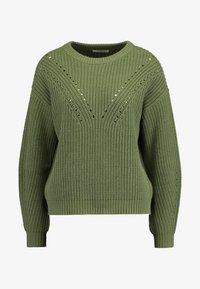 Pieces - O-NECK  CAMP - Strikkegenser - deep lichen green - 4