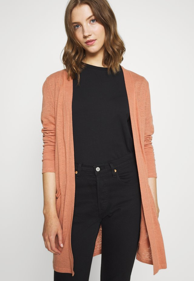 PCMISSY MIDI CARDIGAN - Neuletakki - copper brown