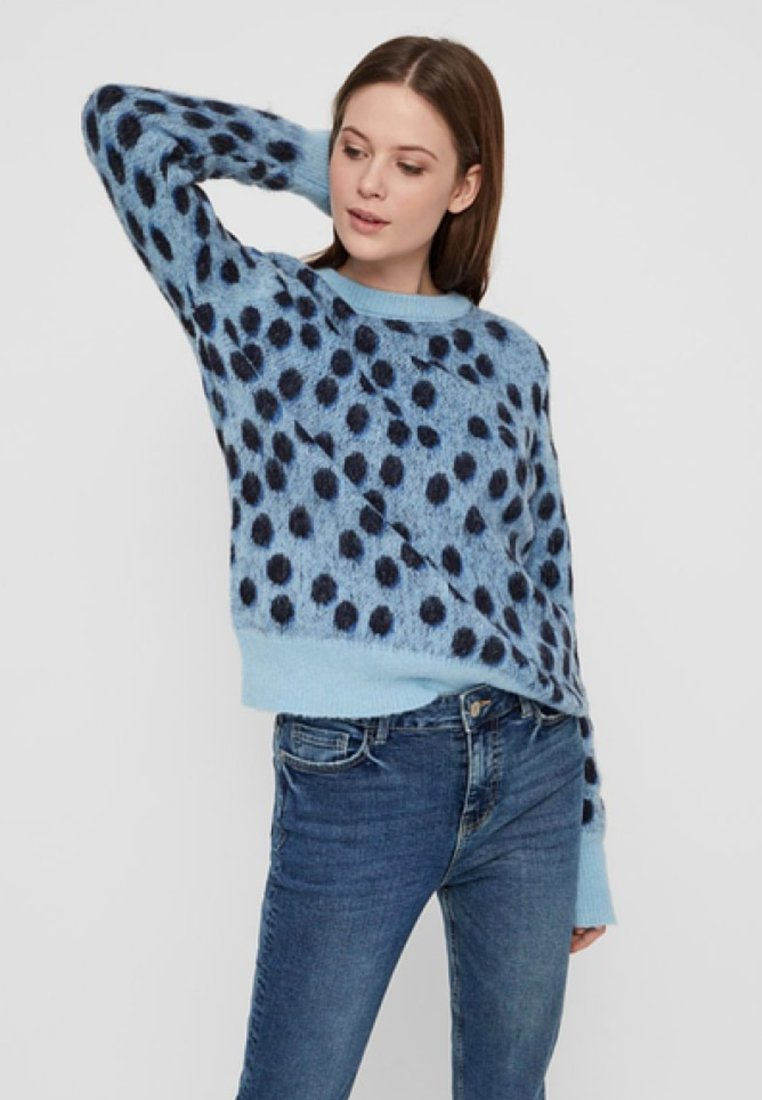 Pieces - Strickpullover - airy blue