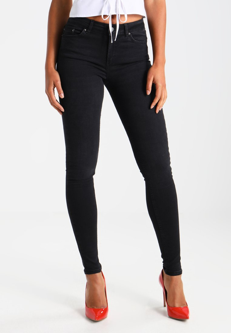 Pieces PCFIVE DELLY - Jeansy Skinny Fit - black