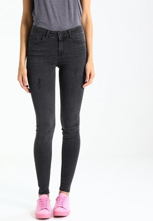 PCFIVE DELLY - Jeans Skinny Fit - dark grey denim