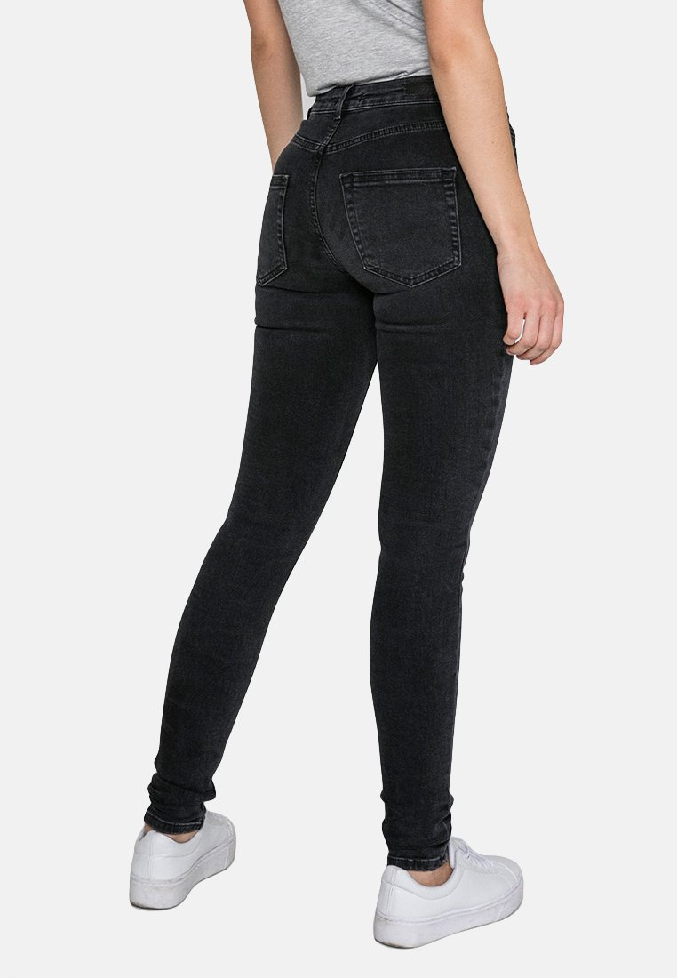 Pieces Jeansy Slim Fit - black