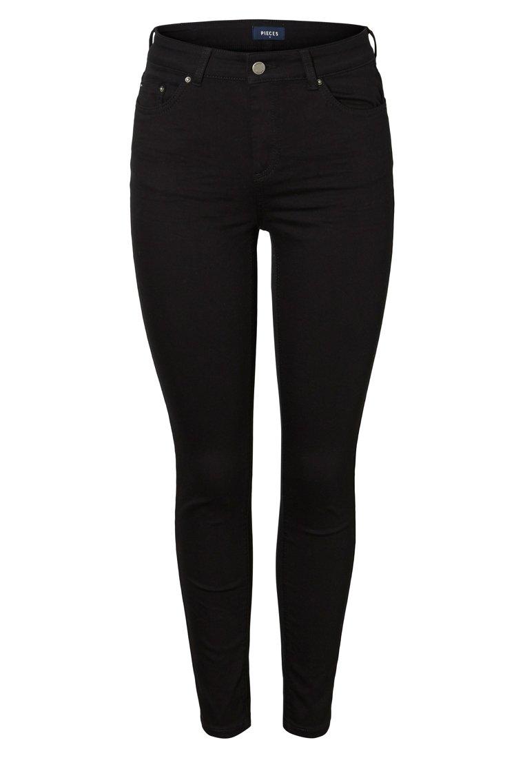 Pieces Jeansy Skinny Fit - black denim