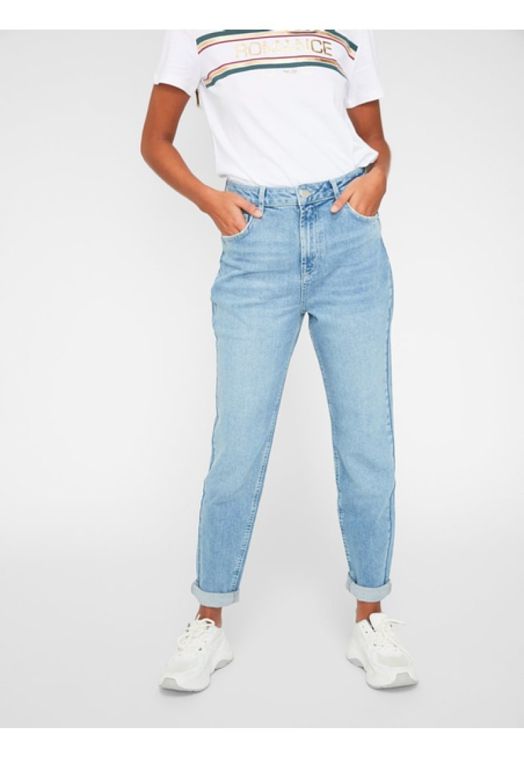 Pieces - Relaxed fit jeans - light blue denim