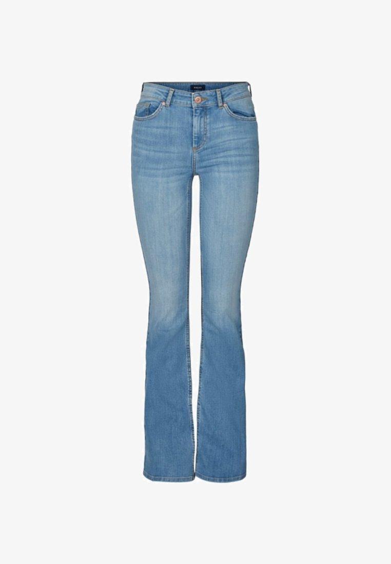 Pieces - Bootcut jeans - light blue denim
