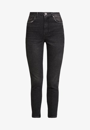 PCLEAH MOM - Jeans relaxed fit - black