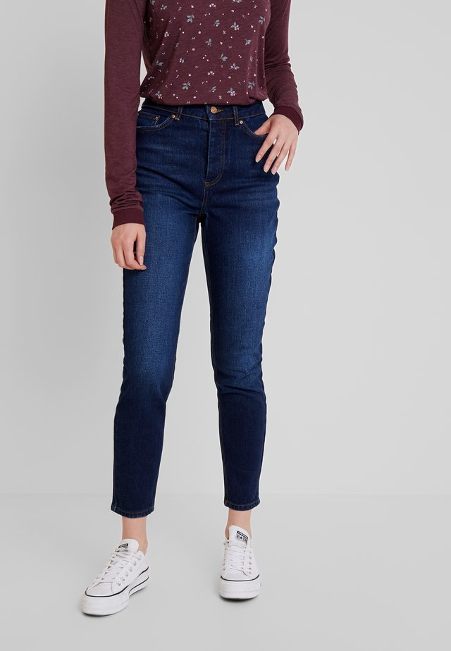 PCCARA - Jeansy Relaxed Fit - dark blue denim