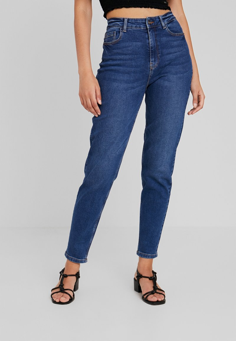 Pieces - PCKESIA MOM - Relaxed fit jeans - dark blue denim