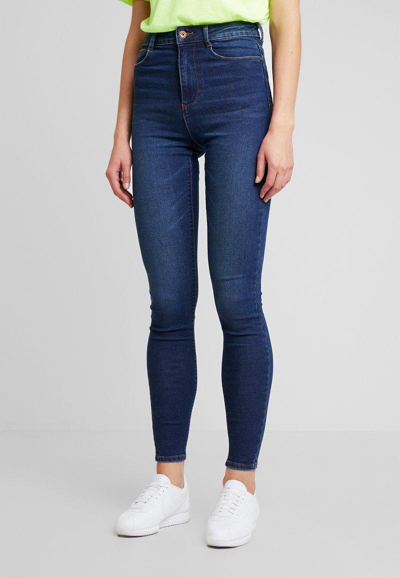 Pieces - Jeans Skinny Fit - dark blue denim