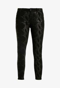 Pieces - PCJACY GLITTER SNAKE - Jeans Skinny Fit - black - 4