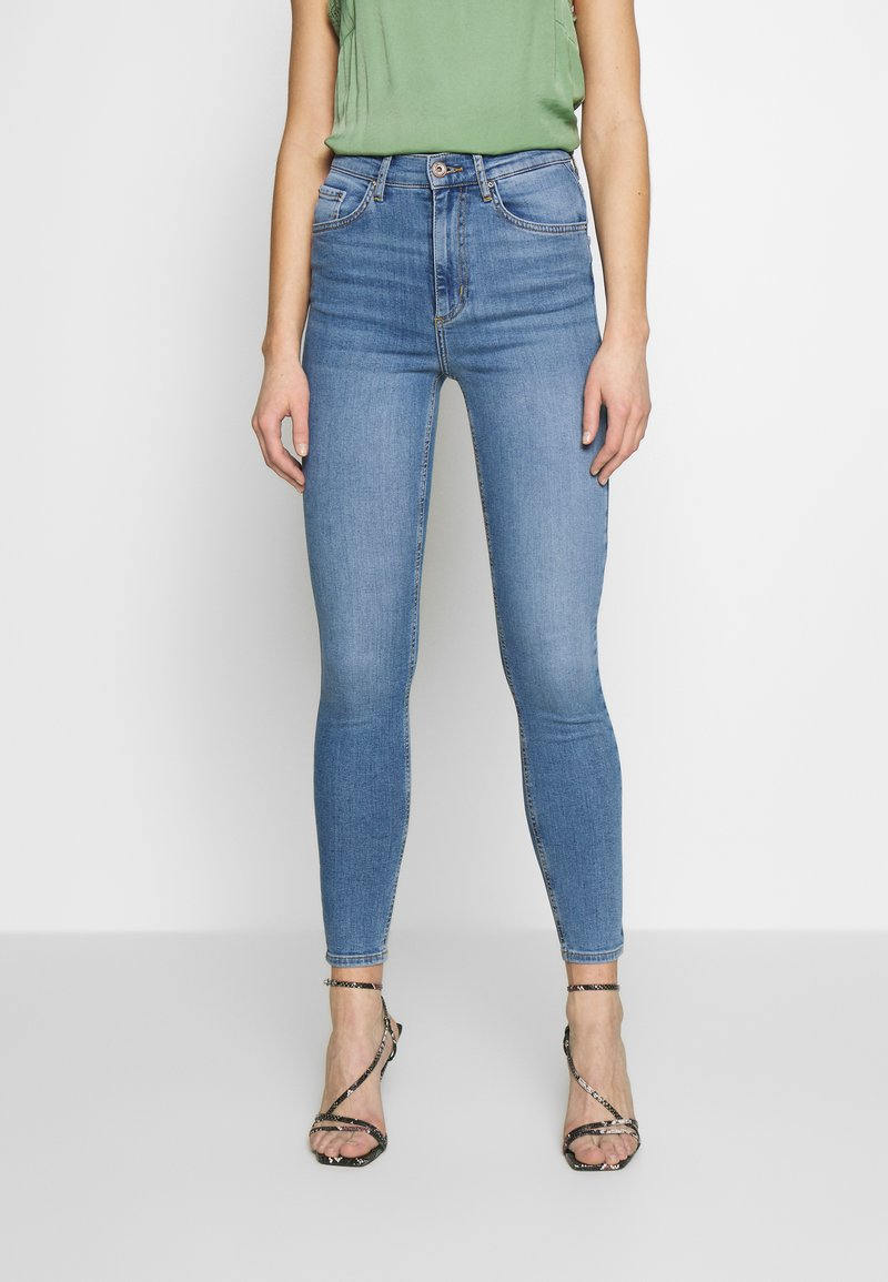 Pieces - NORA - Jeansy Skinny Fit - light blue denim