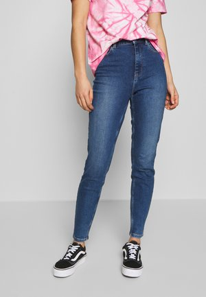 PCKAMELIA ANKLE - Jeansy Skinny Fit - medium blue denim