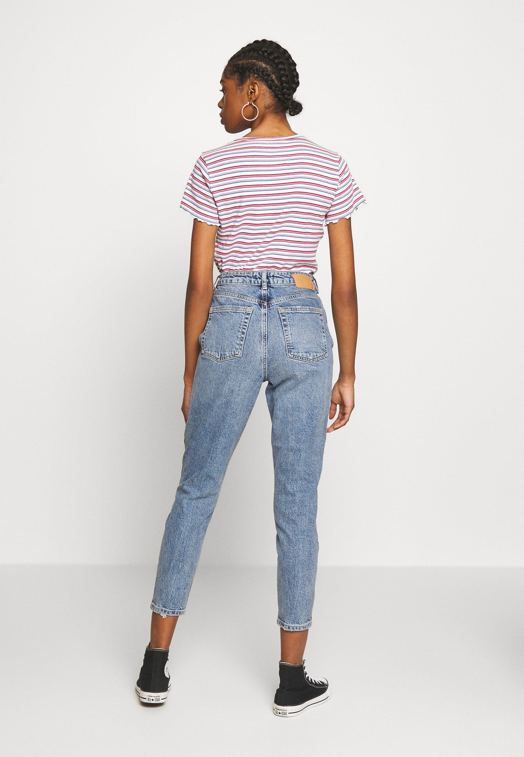Pieces PCCARA  - Jeans slim fit - light blue denim