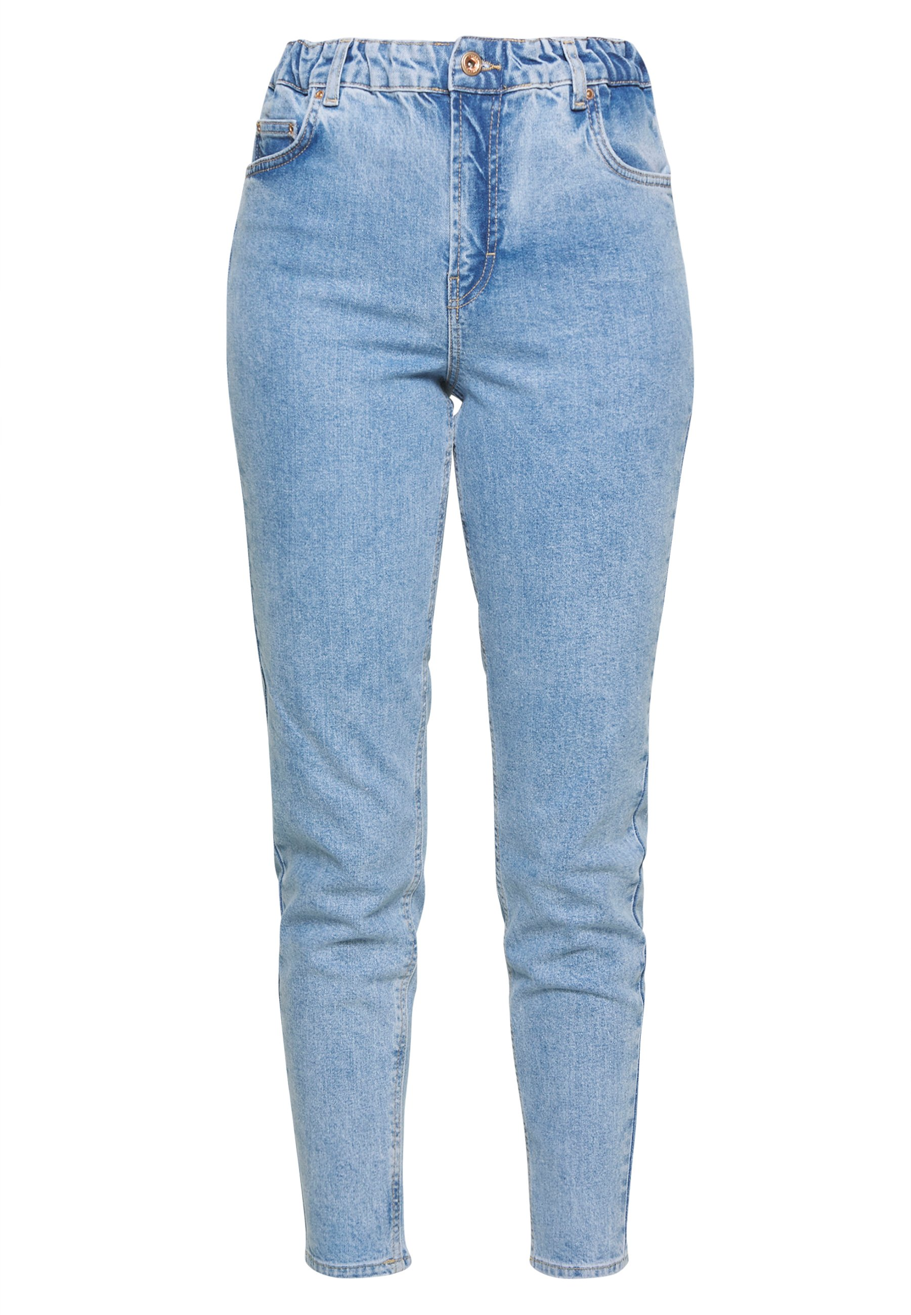 Pieces MOM ELASTIC WAIST - Jeansy Relaxed Fit - light blue denim