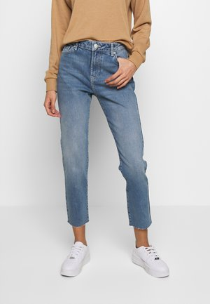 PCNIMA STRAIGHT - Straight leg jeans - light blue denim