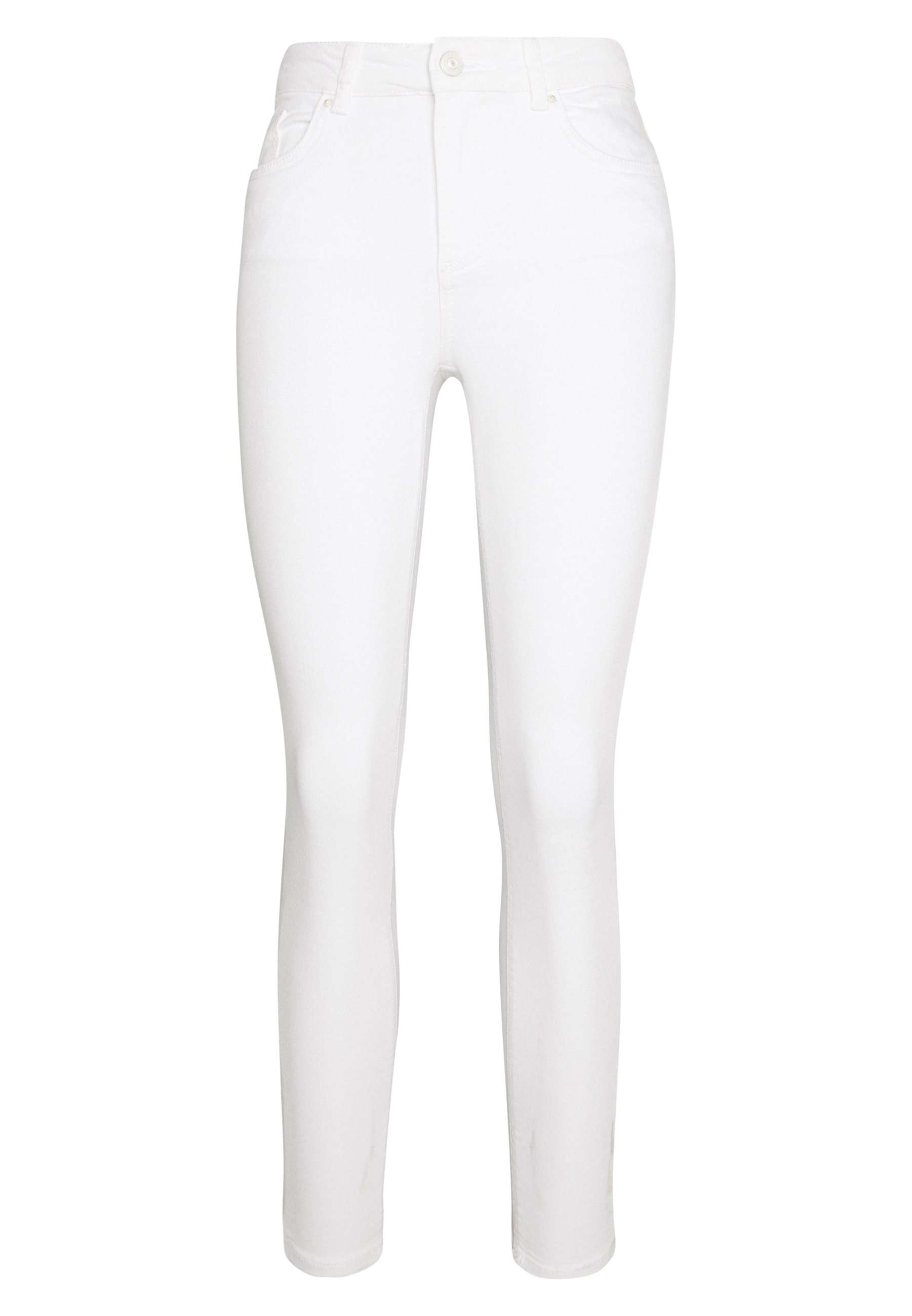 Pieces PCDELLY - Jeansy Skinny Fit - bright white