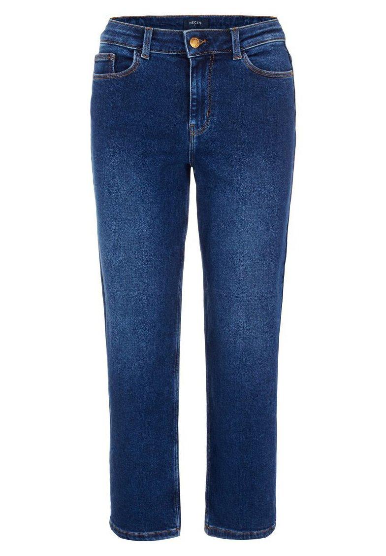Pieces Jeansy Straight Leg - dark blue denim