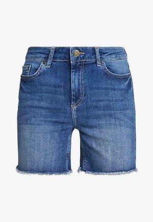 PCDELLY - Denim shorts - medium blue denim