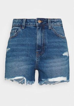 PCAVA DESTROY - Jeansshorts - medium blue denim